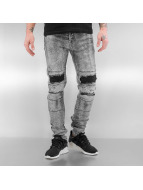 Sixth June Skinny Jeans Destroyed KneeCut gri
