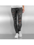 Sixth June Skinny jeans Destroyed grijs