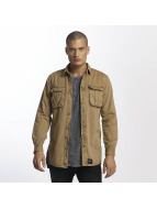 Sixth June Skjorta Cargo Pocket beige