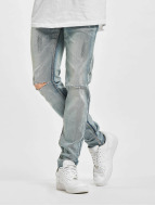 Sixth June Slim Fit Jeans Destroyed Washed синий
