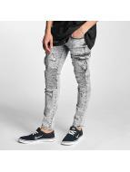 Sixth June Slim Fit Jeans Biker Cargo grijs