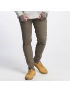 Sixth June Destroyed Knee Slim Jeans Sand