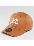 Sixth June Snapback Curved Logo brun