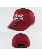 Sixth June Snapback Cap Curved Logo red