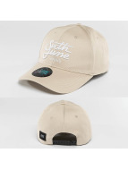Sixth June Snapback Caps Curved Logo beige