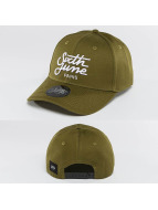 Sixth June Snapback Caps Curved Logo khaki