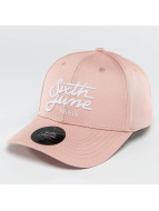Sixth June Snapback Caps Curved Logo rosa