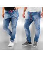 Sixth June Straight fit jeans Sarouel blauw