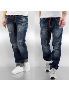 Sixth June Straight fit jeans Leo blauw