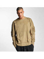 Sixth June Sweat & Pull Destroyed Biker beige