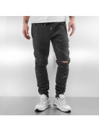 Sixth June Sweat Pant Destroyed Slim Fit grey