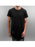 Sixth June T-shirt long oversize Destroyed Rounded Bottom noir