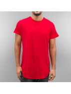 Sixth June T-shirt long oversize Rounded Bottom rouge