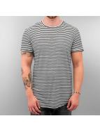Sixth June T-Shirt Stripe Zip noir