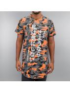 Sixth June T-Shirt Camou Long orange