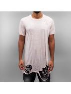 Sixth June T-shirt Ultra Destroyed Oversized rosa chiaro