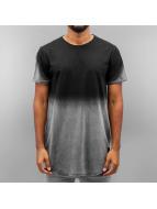 Sixth June T-Shirt Acid Tie Dye Washed Rounded Bottom schwarz