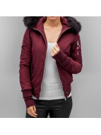 Sixth June Veste bomber Bera rouge