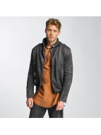 Sixth June Veste en cuir Perfecto gris
