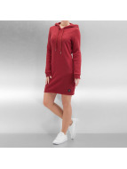 Sixth June Vestido Sweat Hooded rojo