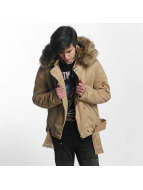 Sixth June Puffa Perfecto With Biker Yoke Jacket Sand/Beige