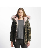 Sixth June Oversize With Fake Fur Hood Classic Parka Camo/Beige