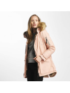 Sixth June Winterjacke Oversize With Fake Fur Hood Classic rosa