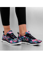 Skechers Baskets Floral Bloom Flex Appeal noir