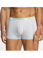 Sky Rebel Boxer Double Pack Logo gris