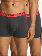 Sky Rebel Boxershorts Double Pack Logo grau