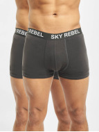 Sky Rebel Underwear Double Pack gray