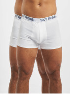 Sky Rebel Underwear Double Pack Logo white