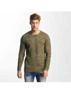 Solid Пуловер Jamail оливковый
