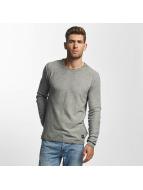 Solid Пуловер Karli Knit серый