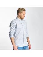 Solid Hemd Shirt Haddon blau