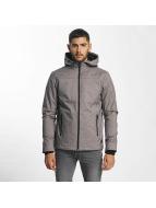 Solid Manteau hiver Jermin gris