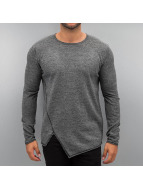 Solid Pullover Knit gris