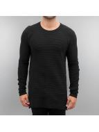 Solid Pullover Knit Edmond schwarz