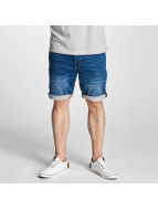 Solid shorts Denim blauw