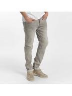 Solid Slim Fit Jeans  grau