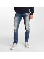 Solid Straight fit jeans Joy Stretch Hybrid blauw