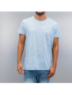 Solid t-shirt Cassio blauw