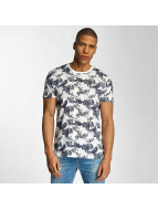 Solid T-Shirt Flowers bleu