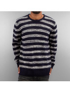 Solid trui Knit Duncan blauw