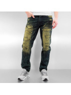 Southpole Dżinsy straight fit Ripped Slim indygo