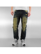Southpole Ripped Slim Straight Jeans Mid Sand Tint