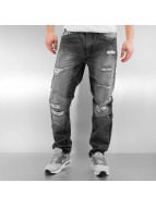 Southpole Straight Fit Jeans Ripped Slim black