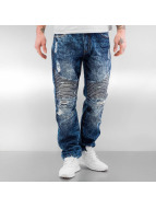 Southpole Straight Fit Jeans Biker blau