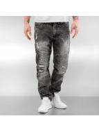 Southpole Straight Fit Jeans Biker grau