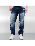 Southpole Straight Fit Jeans Ripped Slim mavi